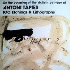 Arte: TAPIES, A. (1923-2012). TAPIES 60 ANIVERSARIO JAPON. 1984. LIM. 3000 EJ. F-H Nº144.. Lote 27534198