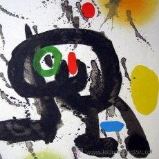Arte: MIRO, J (1893-1983). CERAMICA MURAL PARA HARVARD. 2 LITOGRAFIAS. 1961. DLM 123. Lote 26259743