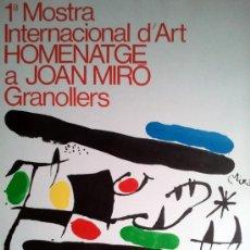 Arte: MIRO, J (1893-1983). 1º MUESTRA INTERNACIONAL DE ARTE. HOMENAJE MIRO. MOURLOT 835.. Lote 32710678