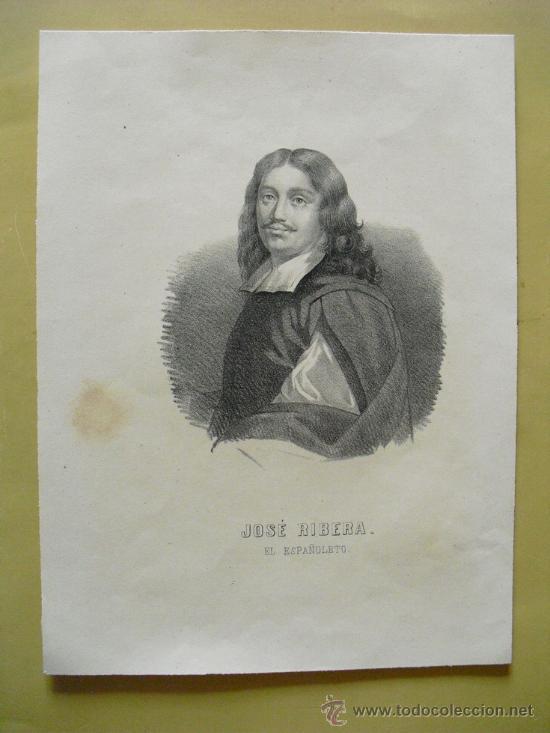 SIGLO XIX JOSE RIBERA EL ESPAÑOLETO (Arte - Serigrafías )