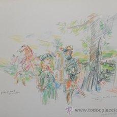 Arte: KOKOSCHKA / COMENIUS ANTE EL CASTILLO FULNEK. FIRMADA, FECHADA ( 1976 ) Y TITULADA EN LA PLANCHA .. Lote 27011496