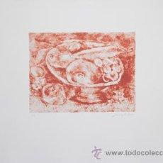 Arte: SALVO / NATURALEZA MUERTA. GRABADO ORIGINAL NUMERADO ( VIII / XXX ) Y FIRMADO A LÁPIZ. . Lote 27106803