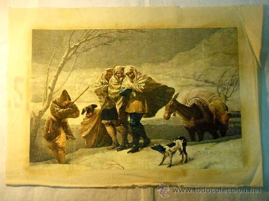 REPRODUCCION OLEOGRAFICA DE TORMENTA DE NIEVE DE F. DE GOYA (Arte - Serigrafías )