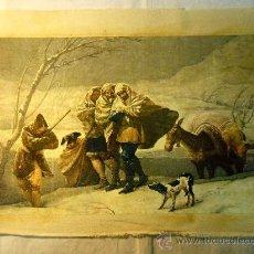 Arte: REPRODUCCION OLEOGRAFICA DE TORMENTA DE NIEVE DE F. DE GOYA. Lote 27216132