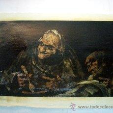 Arte: REPRODUCCION OLEOGRAFICA DE PINTURA NEGRA DE GOYA. Lote 27222963