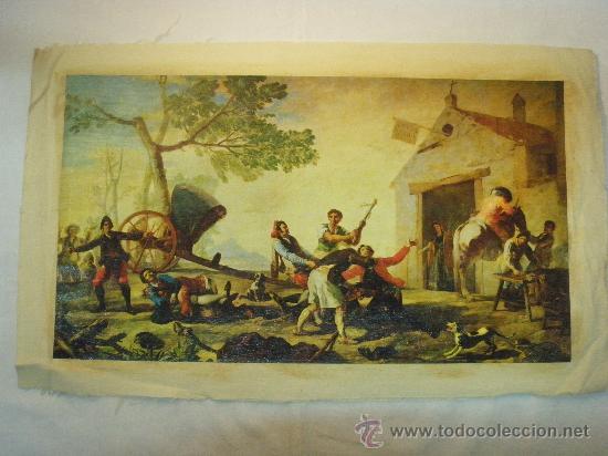 REPRODUCCION OLEOGRAFICA DE RIÑA EN EL MESON DEL GALLO DE FRANCISCO DE GOYA (Arte - Serigrafías )