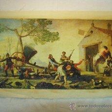 Arte: REPRODUCCION OLEOGRAFICA DE RIÑA EN EL MESON DEL GALLO DE FRANCISCO DE GOYA. Lote 27323774