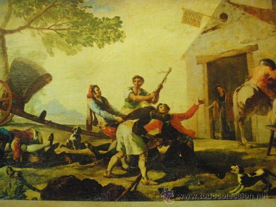 Arte: REPRODUCCION OLEOGRAFICA DE RIÑA EN EL MESON DEL GALLO DE FRANCISCO DE GOYA - Foto 2 - 27323774