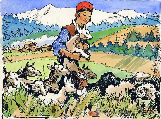GRABADO LITOGRÁFICO ACUARELADO A MANO, DEL ILUSTRADOR BECQUER (1959) (Arte - Serigrafías )