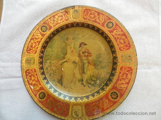 PLATO METÁLICO DE FINALES DEL SIGLO XIX (Arte - Serigrafías )