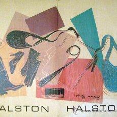 Arte: ANDY WARHOL - CARTEL PARA HALSTON DOS CARAS DEDICADO Y FIRMADO. Lote 27967064