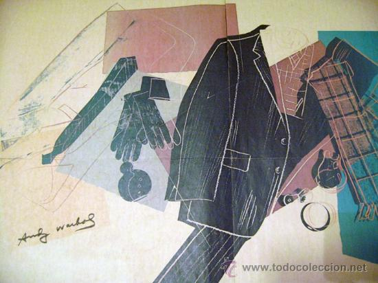 Arte: ANDY WARHOL - CARTEL PARA HALSTON DOS CARAS DEDICADO Y FIRMADO - Foto 5 - 27967064