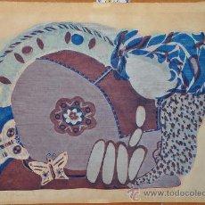 Arte: INTERESANTE SERIGRAFIA FIRMADA Y FECHADA EN 1970 DE TEMA MUSICA. Lote 28187995