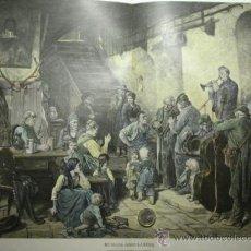 Arte: 147 PRECIOSO GRABADO LITOGRAFICO COLOREADO A MANO SIGLO XIX - PIEZA ORIGINAL DE EPOCA 1882. Lote 28207586