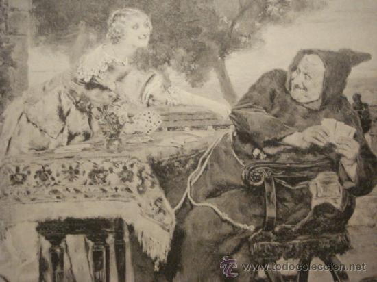 Arte: 156 SIEMPRE GANANDO !! PRECIOSO GRABADO SIGLO XIX PIEZA ORIGINAL DE EPOCA 1882 - Foto 2 - 28207606
