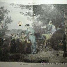 Arte: 172 LOS POSTRES PRECIOSO GRABADO COLOREADO A MANO SIGLO XIX PIEZA ORIGINAL DE EPOCA 1882. Lote 28207627