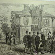 Arte: 185 TROUVILLE FRANCIA PRECIOSO GRABADO SIGLO XIX PIEZA ORIGINAL DE EPOCA 1872. Lote 28216202
