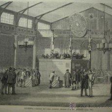 Arte: 240 GINEBRA SUIZA ELECCIONES PRECIOSO GRABADO SIGLO XIX PIEZA ORIGINAL DE EPOCA 1872. Lote 28224730