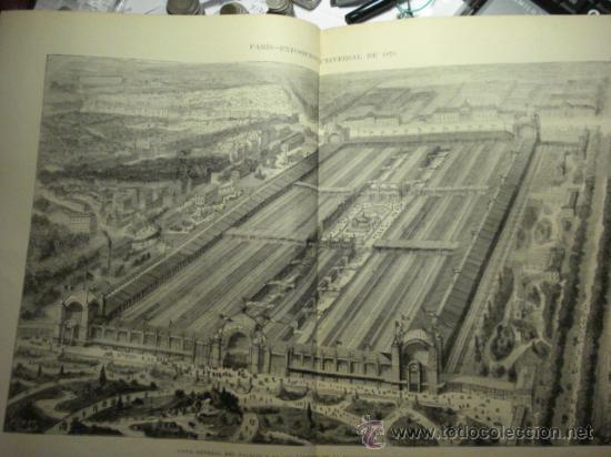 243 PARIS FRANCIA EXPOSICION PRECIOSO GRABADO SIGLO XIX PIEZA ORIGINAL DE EPOCA 1878 (Arte - Serigrafías )