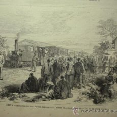 Arte: 248 CHINA SHANGHAI FERROCARRIL PRECIOSO GRABADO SIGLO XIX PIEZA ORIGINAL DE EPOCA 1878. Lote 28224812