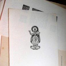 Arte: GRABADITO ANTIGUO VIRGEN CON NIÑO. GALICIA. 23 X 15`5.. Lote 28597157