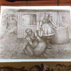 Arte: SERIGRAFÍA JOSE Mª ACUÑA. FIRMADA POR EL AUTOR. 65 X 48 CM.. Lote 189120122