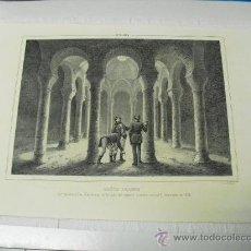 Arte: 1839 BAÑOS ARABES QUE EXISTIERON EN LA CIUDAD DE BARCELONA F.J. PARCERISA. Lote 29066385