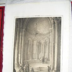 Arte: 1839 INTERIOR DE SAN MARTIN ZAROCA F.J. PARCERISA. Lote 29067004