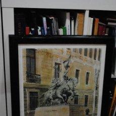 Arte: ACUARELA-PINTURA. LAMINA DE LA ESTATUA DE LOS HEROES DE ALCANTARA. ACADEMIA DE CABALLERIA. . Lote 29220822