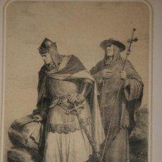 Arte: ALFONSO VII Y EL ARZOBISPO DON RODRIGO. (VÍSPERA DE LA BATALLA DE LAS NAVAS, 1212).. Lote 29237166