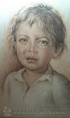 IMAGEN DEL FAMOSO PINTOR G.TARANTINO SERIGRAFIADA EN SEDA NATURAL.MILANO 1977 (Arte - Serigrafías )