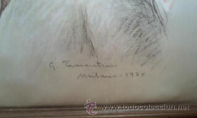 Arte: Imagen del famoso pintor G.Tarantino serigrafiada en seda natural.Milano 1977 - Foto 3 - 30131042