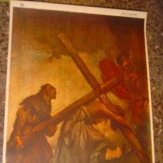 Arte: SERIGRAFIA RELIGIOSA AÑOS 40 EDITORIAL JOSE VILAMALA MEDIDAS 1,00 CTM X 7O CTM . Lote 31617494