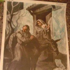 Arte: SERIGRAFIA RELIGIOSA AÑOS 40 EDITORIAL JOSE VILAMALA MEDIDAS 1,00 CTM X 7O CTM . Lote 31618481