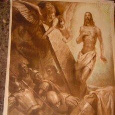 Arte: SERIGRAFIA RELIGIOSA AÑOS 40 EDITORIAL JOSE VILAMALA MEDIDAS 1,00 CTM X 7O CTM . Lote 31618550