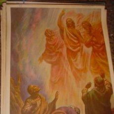 Arte: SERIGRAFIA RELIGIOSA AÑOS 40 EDITORIAL JOSE VILAMALA MEDIDAS 1,00 CTM X 7O CTM . Lote 31618616
