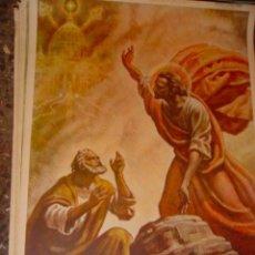 Arte: SERIGRAFIA RELIGIOSA AÑOS 40 EDITORIAL JOSE VILAMALA MEDIDAS 1,00 CTM X 7O CTM . Lote 31618666
