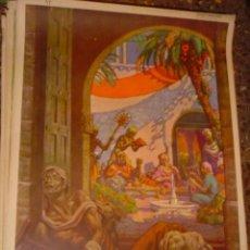 Arte: SERIGRAFIA RELIGIOSA AÑOS 40 EDITORIAL JOSE VILAMALA MEDIDAS 1,00 CTM X 7O CTM . Lote 31618682