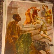 Arte: SERIGRAFIA RELIGIOSA AÑOS 40 EDITORIAL JOSE VILAMALA MEDIDAS 1,00 CTM X 7O CTM . Lote 31618693