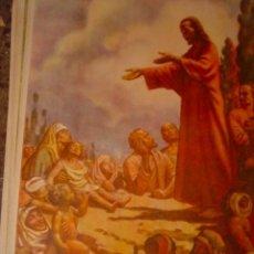 Arte: SERIGRAFIA RELIGIOSA AÑOS 40 EDITORIAL JOSE VILAMALA MEDIDAS 1,00 CTM X 7O CTM . Lote 31618708