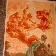Arte: SERIGRAFIA RELIGIOSA AÑOS 40 EDITORIAL JOSE VILAMALA MEDIDAS 1,00 CTM X 7O CTM . Lote 31618820