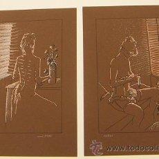 Arte: CARPETA CON 4 SERIGRAFIAS FIRMADAS Y NUMERADAS DE S.PIERI. Lote 31647561