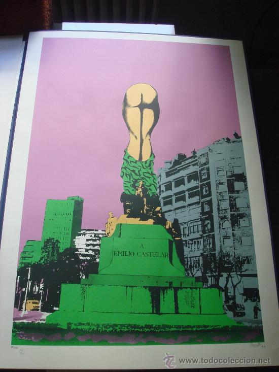 "EDUARDO URCULO, SERIGRAFIA.CARPETA: ""MONUMENTALIA PODICIS""SOBRE MONUMENTOS Y PLAZAS DE MADRID. 1977 (Arte - Serigrafías )"