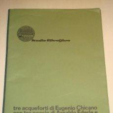 Arte: EUGENIO CHICANO, CARPETA CON 3 AGUAFUERTE Y 3 POESÍAS DE ARNALDO EDERLE, 1978. Lote 33418102