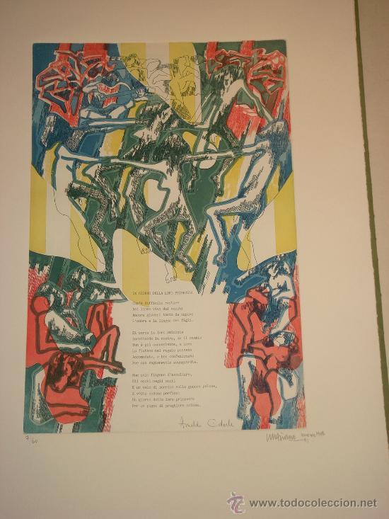 Arte: EUGENIO CHICANO, Carpeta con 3 Aguafuerte y 3 poesías de Arnaldo Ederle, 1978 - Foto 5 - 33418102