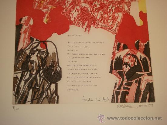 Arte: EUGENIO CHICANO, Carpeta con 3 Aguafuerte y 3 poesías de Arnaldo Ederle, 1978 - Foto 8 - 33418102