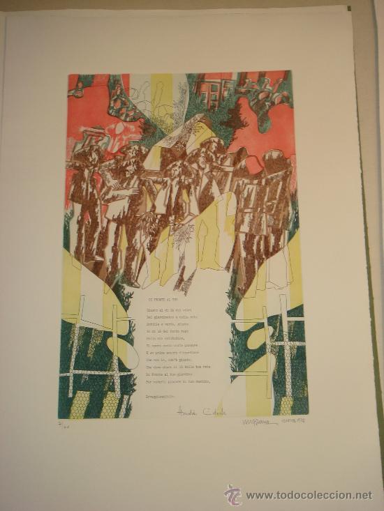 Arte: EUGENIO CHICANO, Carpeta con 3 Aguafuerte y 3 poesías de Arnaldo Ederle, 1978 - Foto 9 - 33418102