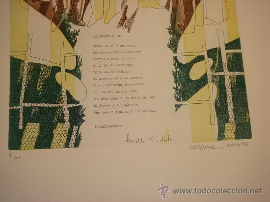 Arte: EUGENIO CHICANO, Carpeta con 3 Aguafuerte y 3 poesías de Arnaldo Ederle, 1978 - Foto 10 - 33418102