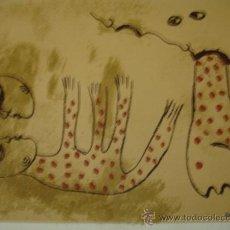 Arte: MANUEL MENDIVE PINTOR CUBA (CONVERSANDO) ORIGINAL MUY COTIZADO. Lote 34226442