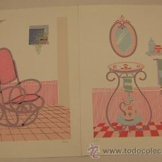 Arte - 4 serigrafias firmadas - 34605546